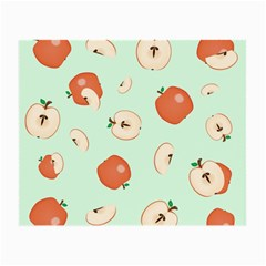 Apple Fruit Background Food Small Glasses Cloth