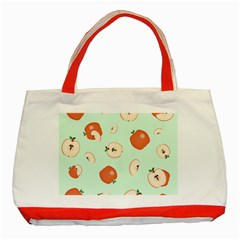 Apple Fruit Background Food Classic Tote Bag (Red)