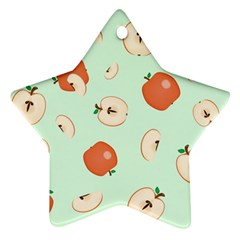Apple Fruit Background Food Star Ornament (Two Sides)