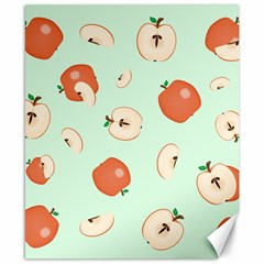 Apple Fruit Background Food Canvas 8  x 10