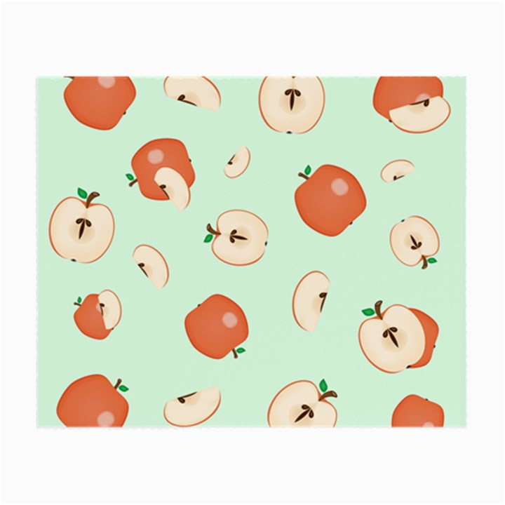 Apple Fruit Background Food Small Glasses Cloth (2-Side)