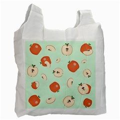 Apple Fruit Background Food Recycle Bag (One Side)