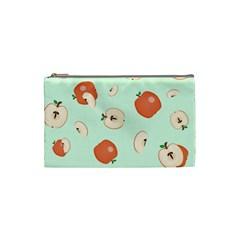 Apple Fruit Background Food Cosmetic Bag (small)