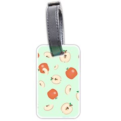 Apple Fruit Background Food Luggage Tags (two Sides)