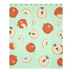 Apple Fruit Background Food Shower Curtain 60  x 72  (Medium)