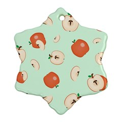 Apple Fruit Background Food Ornament (Snowflake)