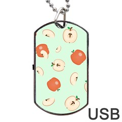 Apple Fruit Background Food Dog Tag USB Flash (Two Sides)