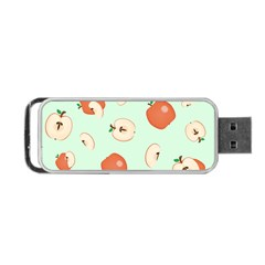 Apple Fruit Background Food Portable USB Flash (Two Sides)