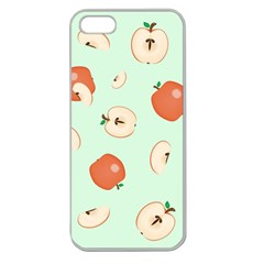 Apple Fruit Background Food Apple Seamless Iphone 5 Case (clear)