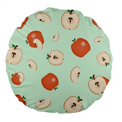 Apple Fruit Background Food Large 18  Premium Round Cushions