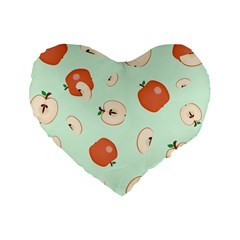 Apple Fruit Background Food Standard 16  Premium Heart Shape Cushions