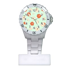 Apple Fruit Background Food Plastic Nurses Watch