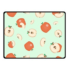 Apple Fruit Background Food Double Sided Fleece Blanket (Small)