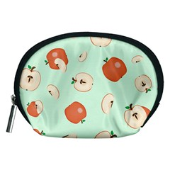 Apple Fruit Background Food Accessory Pouches (medium)