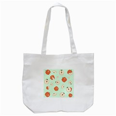 Apple Fruit Background Food Tote Bag (White)