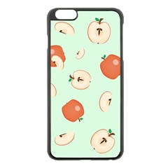 Apple Fruit Background Food Apple Iphone 6 Plus/6s Plus Black Enamel Case
