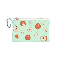 Apple Fruit Background Food Canvas Cosmetic Bag (s)