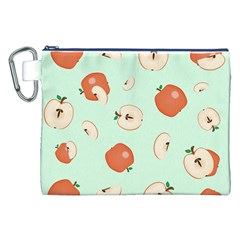 Apple Fruit Background Food Canvas Cosmetic Bag (XXL)