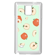 Apple Fruit Background Food Samsung Galaxy Note 4 Case (White)