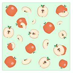 Apple Fruit Background Food Large Satin Scarf (square)