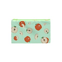 Apple Fruit Background Food Cosmetic Bag (xs)