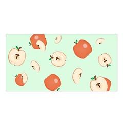Apple Fruit Background Food Satin Shawl