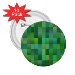 Green Blocks Pattern Backdrop 2.25  Buttons (10 pack)