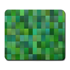 Green Blocks Pattern Backdrop Large Mousepads