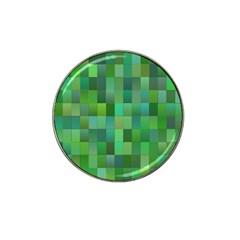 Green Blocks Pattern Backdrop Hat Clip Ball Marker (10 pack)