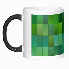 Green Blocks Pattern Backdrop Morph Mugs