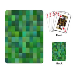 Green Blocks Pattern Backdrop Playing Card