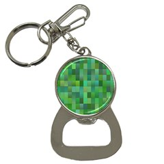Green Blocks Pattern Backdrop Button Necklaces
