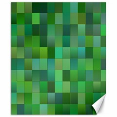 Green Blocks Pattern Backdrop Canvas 8  x 10