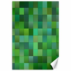 Green Blocks Pattern Backdrop Canvas 12  x 18
