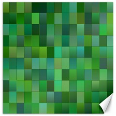 Green Blocks Pattern Backdrop Canvas 16  x 16
