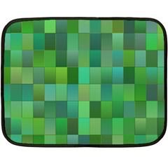 Green Blocks Pattern Backdrop Fleece Blanket (Mini)
