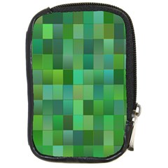 Green Blocks Pattern Backdrop Compact Camera Cases