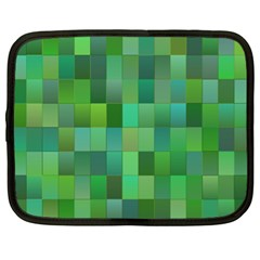 Green Blocks Pattern Backdrop Netbook Case (XL)