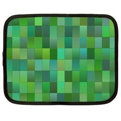 Green Blocks Pattern Backdrop Netbook Case (XXL)