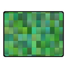 Green Blocks Pattern Backdrop Fleece Blanket (Small)