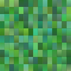 Green Blocks Pattern Backdrop Magic Photo Cubes