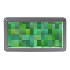 Green Blocks Pattern Backdrop Memory Card Reader (mini)