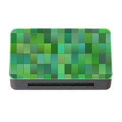 Green Blocks Pattern Backdrop Memory Card Reader with CF