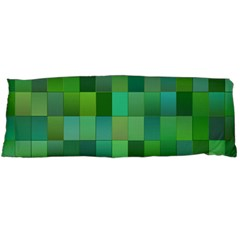 Green Blocks Pattern Backdrop Body Pillow Case Dakimakura (Two Sides)