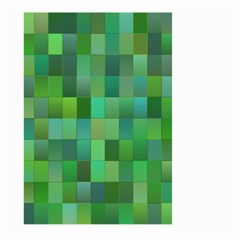 Green Blocks Pattern Backdrop Large Garden Flag (Two Sides)