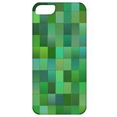 Green Blocks Pattern Backdrop Apple Iphone 5 Classic Hardshell Case
