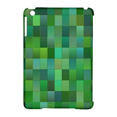 Green Blocks Pattern Backdrop Apple iPad Mini Hardshell Case (Compatible with Smart Cover)