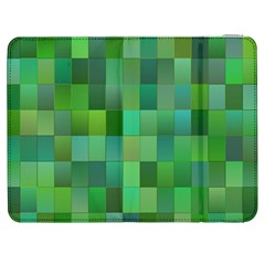 Green Blocks Pattern Backdrop Samsung Galaxy Tab 7  P1000 Flip Case
