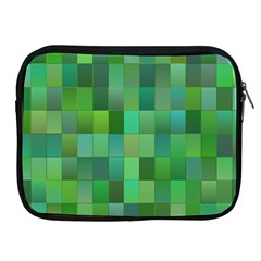 Green Blocks Pattern Backdrop Apple Ipad 2/3/4 Zipper Cases