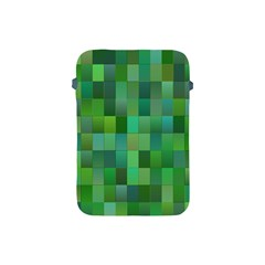 Green Blocks Pattern Backdrop Apple iPad Mini Protective Soft Cases